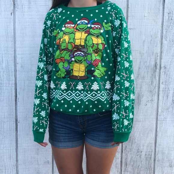 teenage mutant ninja turtle christmas sweater